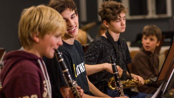 Foto af klarinetter