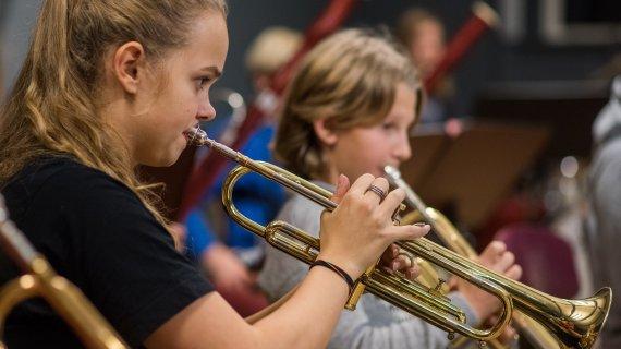 Foto af trompet
