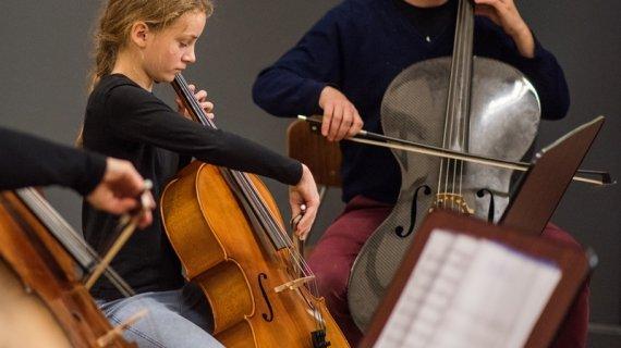 Foto af cello
