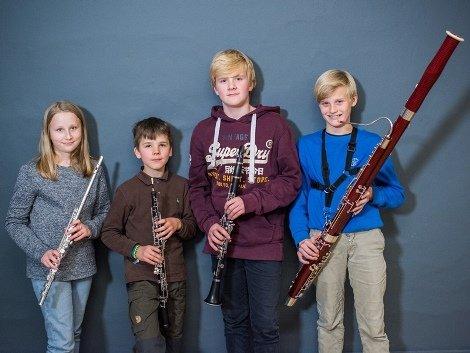 Foto af Træblæsere: Fløjte, obo, klarinet, fagot