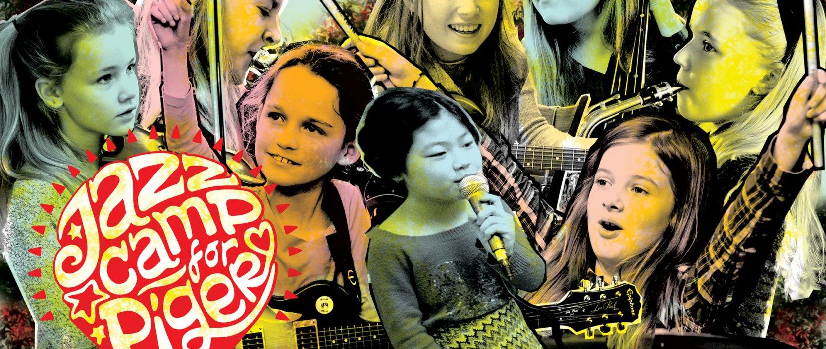 fotocollage af jazzcamp for piger