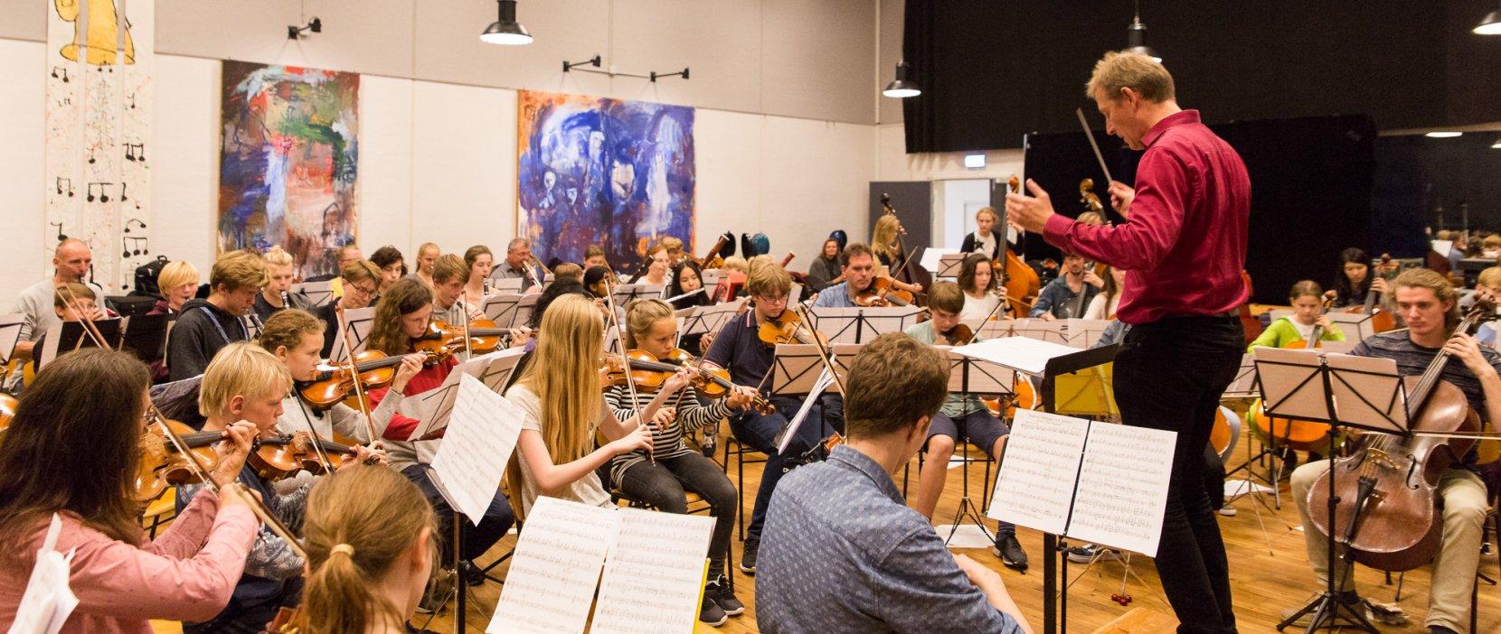 foto af orkesterprøve