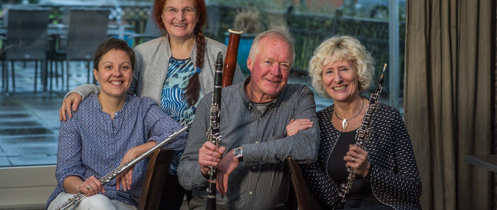 Foto af undervisere i fløjte, obo, klarinet og fagot